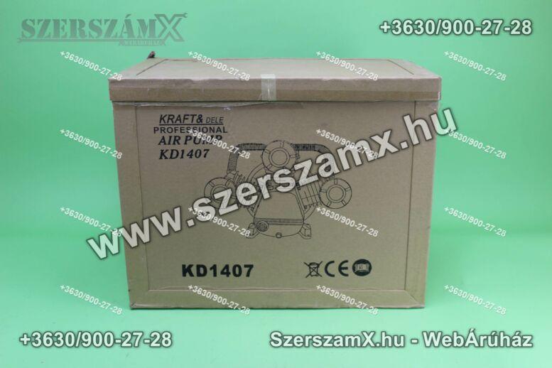 KraftDele KD1407 3-Hengeres Kompresszor 3x90mm