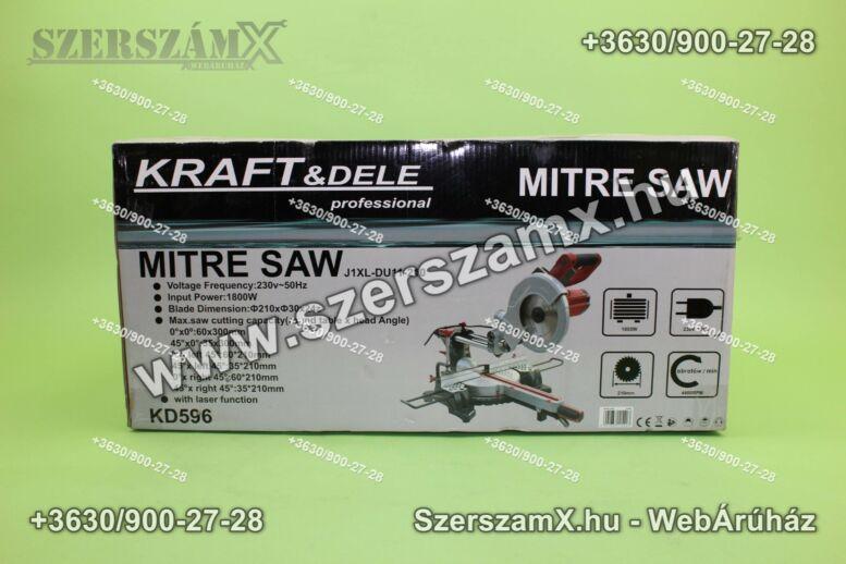 KraftDele KD596 Gérvágó Körfűrész 1800W 210mm