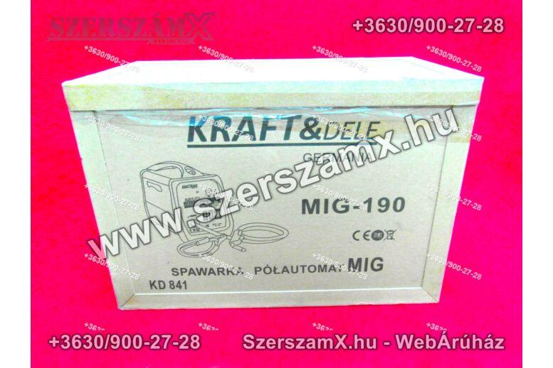 KraftDele KD841 190A  Védőgázas & Védőgáznélküli Co2 Hegesztőgép