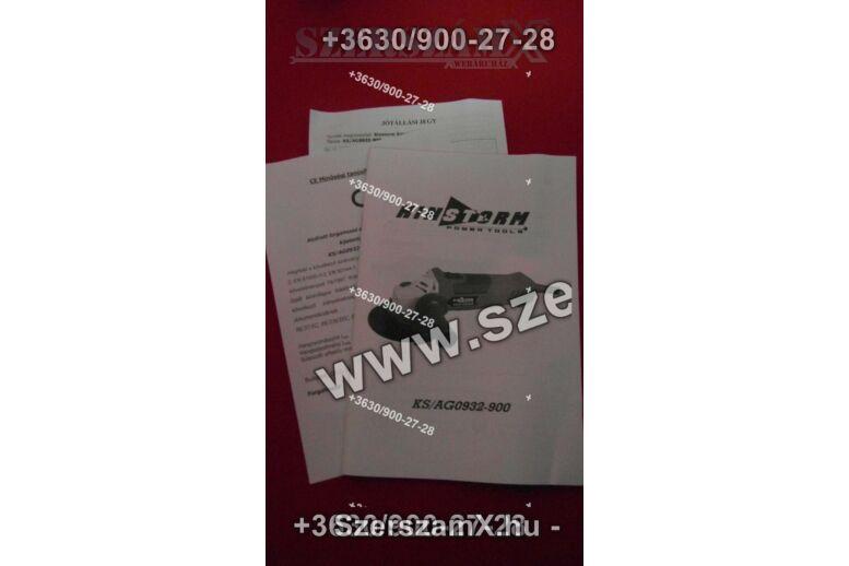 Kinstorm KS/AG 0932-900 Sarokcsiszoló 125mm 910W