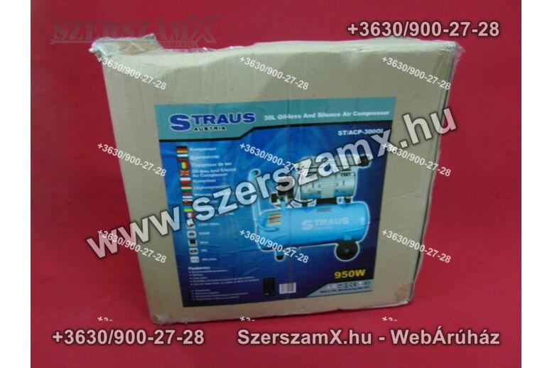 Straus ST/ACP-300OL Olajmentes Kompresszor  30L 950W
