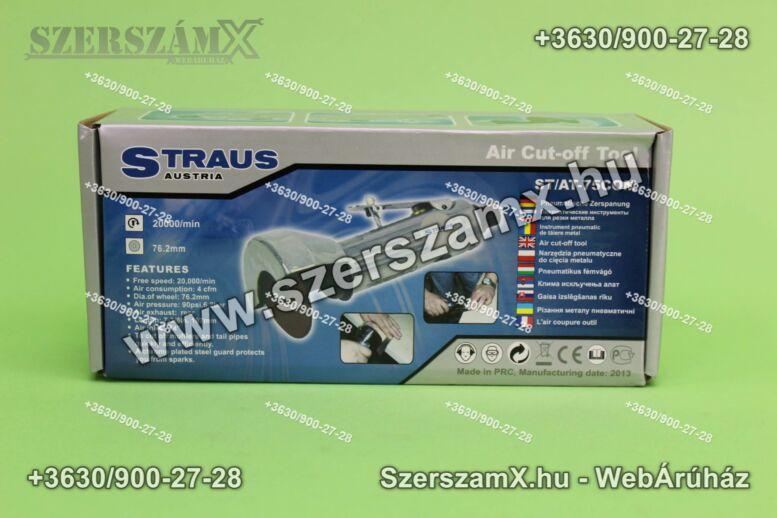 Straus ST/AT-75COM Pneumatikus Sarokcsiszoló 75mm