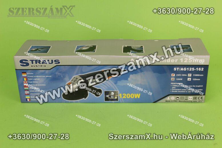 Straus ST/AG125-162 Sarokcsiszoló 125mm 1200W Szabályzós